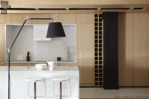aranzacja kuchni jasne drewno
