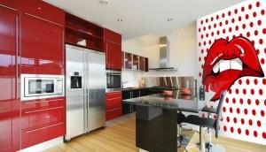 aranzacja kuchni w styli pop art