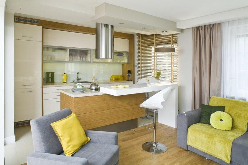 Kuchnia modne wn trza for Polaczenie kuchni z salonem