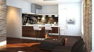 aranzacja kuchni z salonem