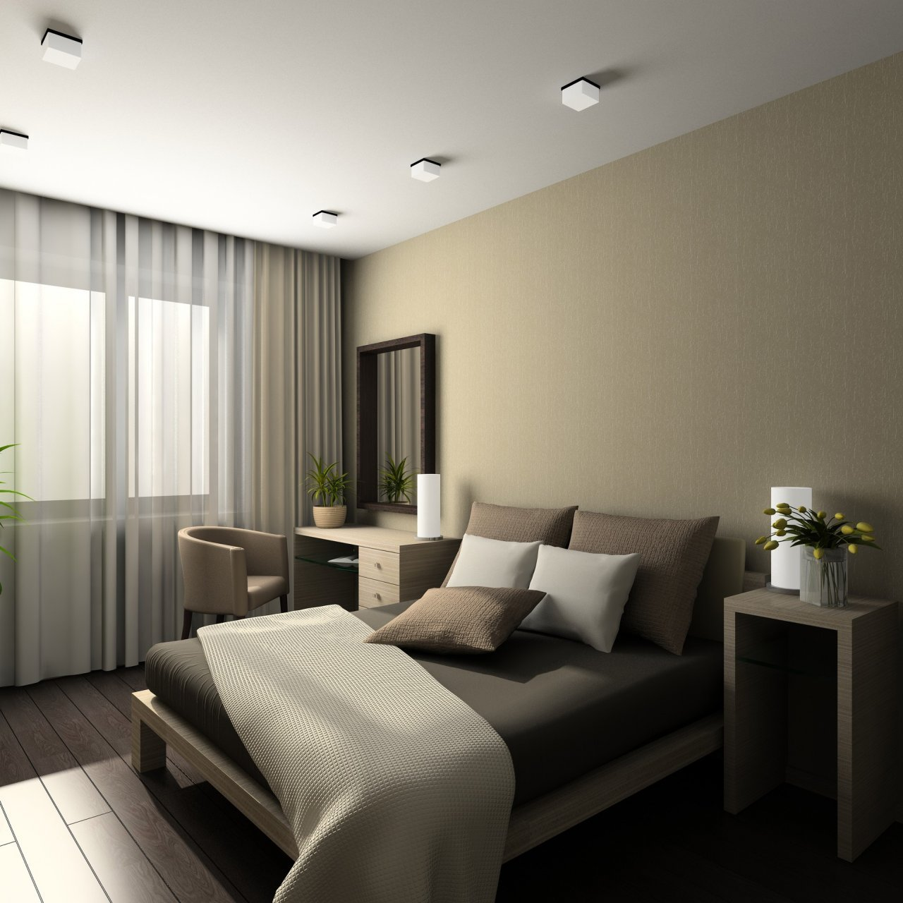 Aran acje sypialni modne wn trza - Decoracion de interiores habitaciones ...