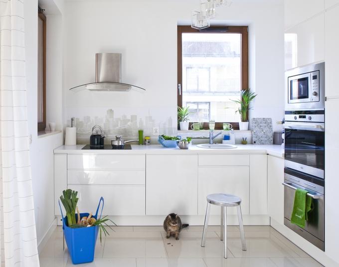 Biała aranżacja kuchni -> Biala Kuchnia A Podloga