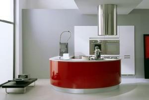 czerwona czarna kuchnia