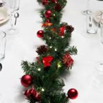 dekoracja świąteczna stołu