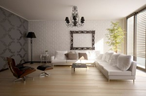 drewno egzotyczne w salonie
