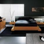intwnsywny kolor w sypialni