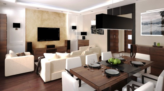 Aranżacje salonu • Modne Wnętrza -> Kuchnia Z Salonem Aranzacja