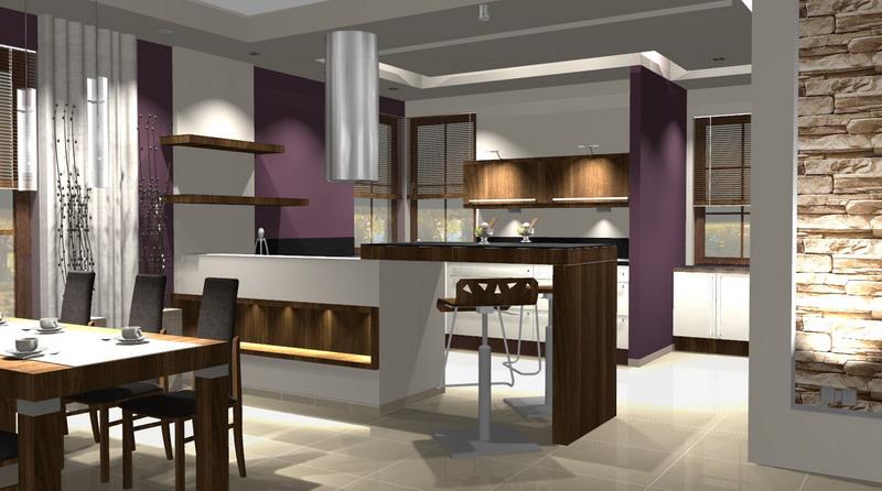 Kuchnia z jadalnia for Projekty kuchni z salonem