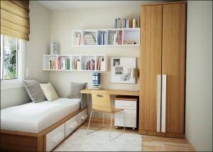 niewielka sypialnia
