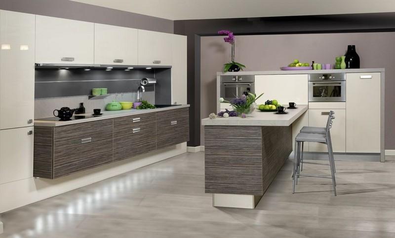 nowoczesna kuchnia • Modne Wnętrza -> Kuchnia Nowoczesna Grafitowa