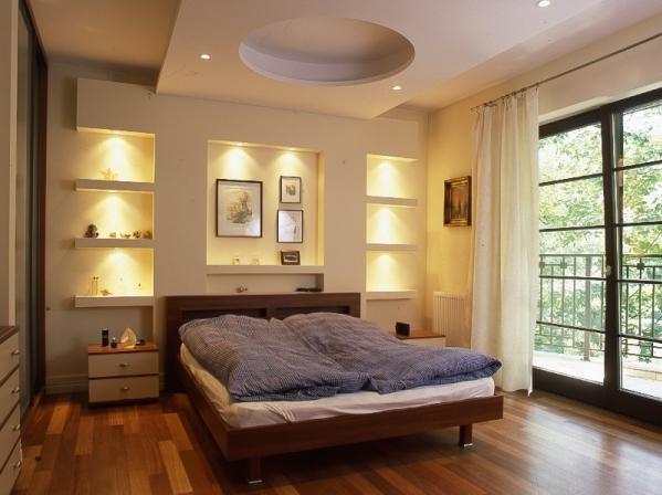 O wietlenie sufit w podwieszanych modne wn trza for Sufit podwieszany w salonie