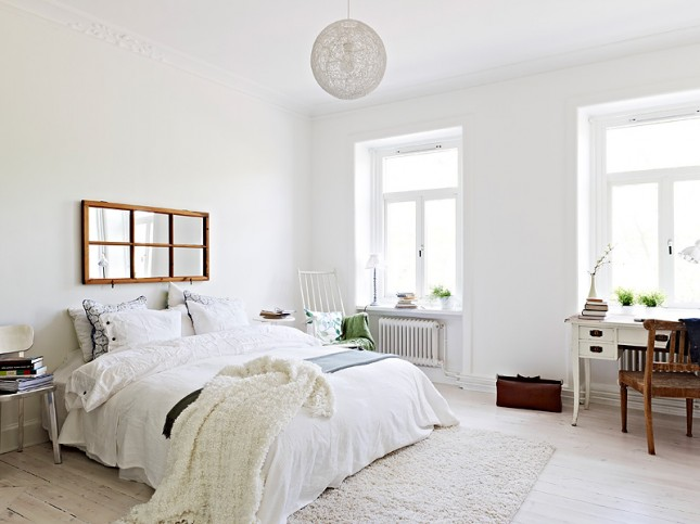 Sypialnia W Stylu Skandynawskim Dom