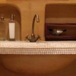 otynkowana umywalka