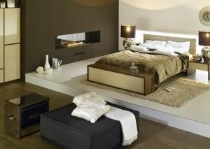 wystrój beżowy sypialni