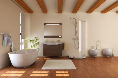 Aranżacja łazienki W Drewnie