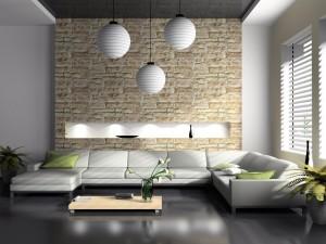 biala sofa w salonie