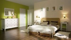 aranżacja sypialni w stylu eko