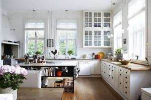 bialy wystroj kuchni