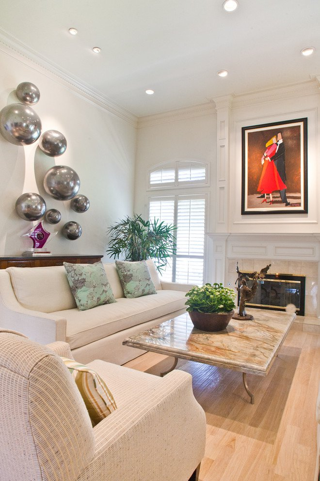 marble-table-tops-Living-Room-Transitional-with-artwork-ceiling-lighting-coffee-table-crown-mold