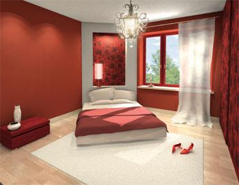 Aranzacja Sypialni Z Wykorzystaniem Intensywych Kolorow