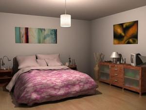 wystrój sypialni oświetlenie