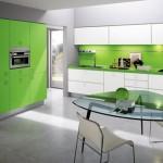 zielony wystroj kuchni
